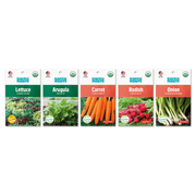 Organic Fall Quick Harvest, 5 Pack Seed Bundle