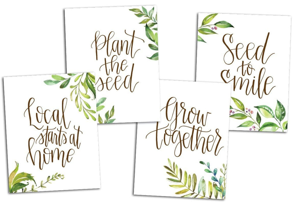 Homegrown Recipe Book & Decorative Kitchen Art Print Bundle - Back to the Roots