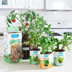 The Indoor Gardening Essentials - Herb, Veggies and Mushrooms 6-Plant Bundle (Save $20!)