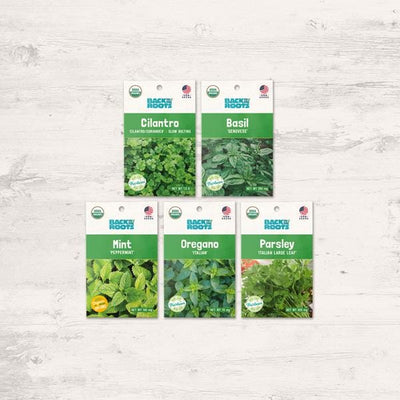 Organic Herb Garden Variety Pack - Seed Packet Bundle