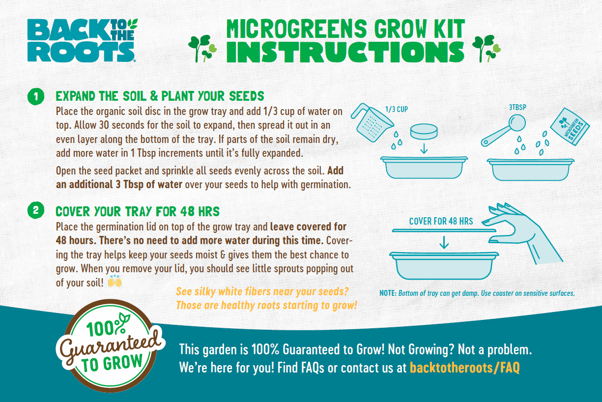 Microgreens Grow Kit Instructions