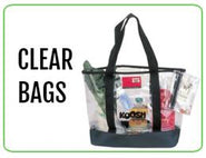 Wholesale Clear Bags, Stadium Bags & Clear Backpacks