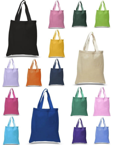 multi color blank tote bags