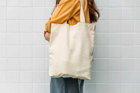 Plain canvas tote bags