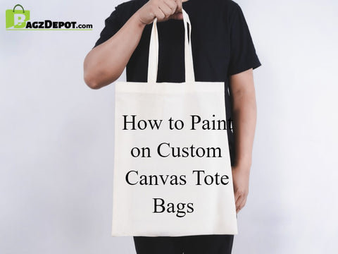 How to Paint on Custom Canvas Tote Bags