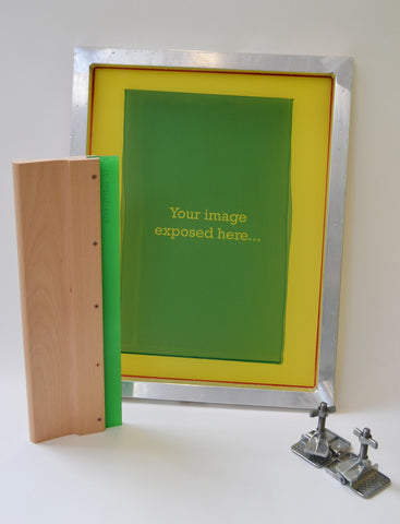 screen printing squeegee and screen