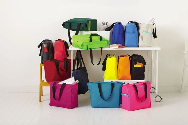 tote bags in assorted colors