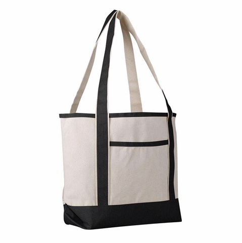 large canvas boat tote bag