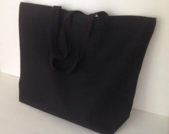 extra large canvas shopping tote