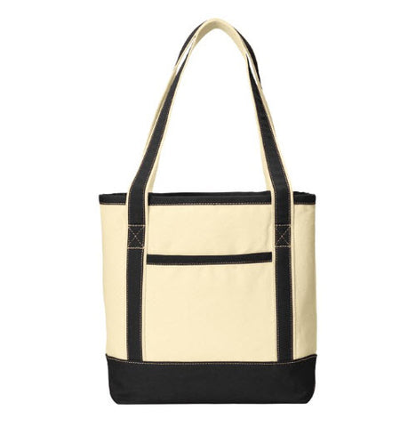 Large Canvas Tote Bag with Zipper Pocket