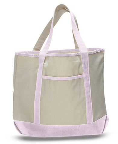 extra large heavy weight canvas boat tote bag