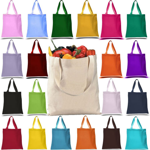 canvas tote bag color choices