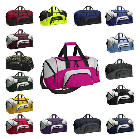 duffle bags assorted colors
