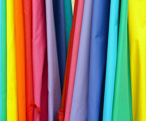 draped fabric assorted rainbow colors