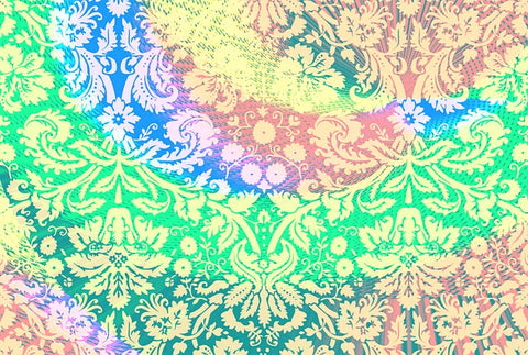 hippie dip dye patterned fabric