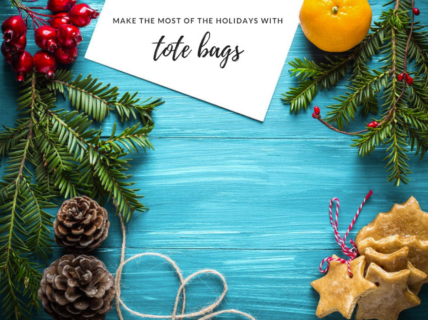 make the most of the holidays with tote bags from bagzdepot.com