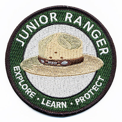 junior ranger embroidered iron on patch