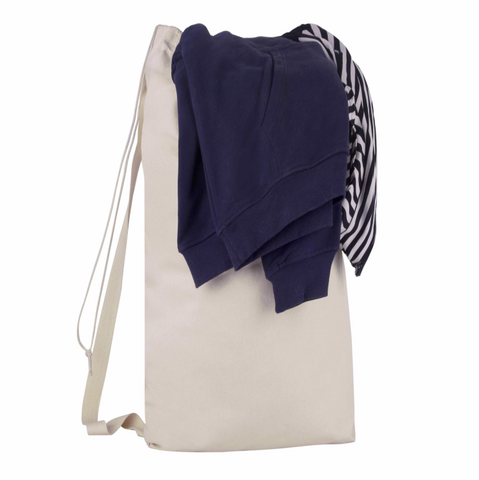 canvas drawstring laundry bag