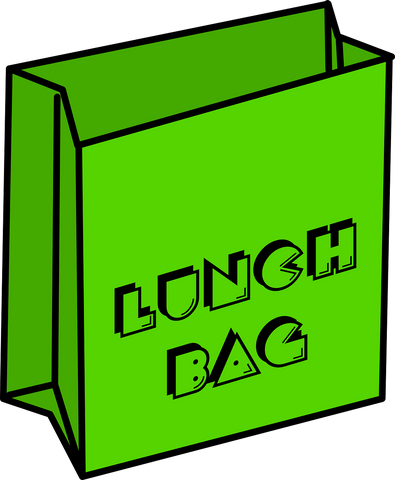 lunch bag graphic green