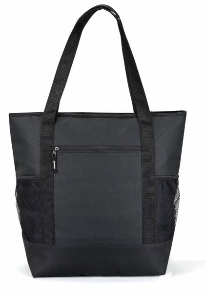black insulated lunch tote bag