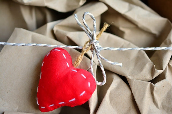 heart topped gift