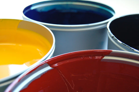 screen printing ink red yellow blue
