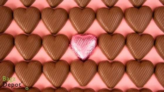 Chocolate Hearts for your singles friends on Valentine's Day