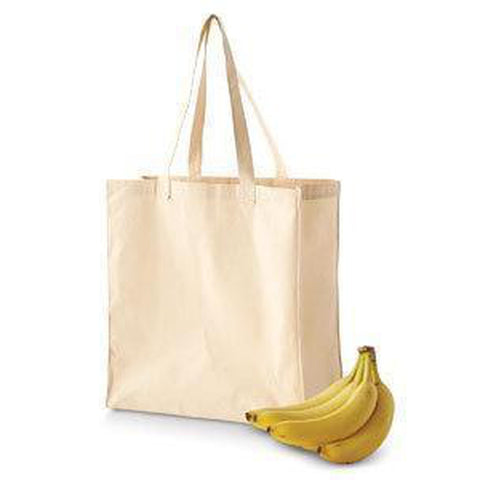 BAGedge 6 oz. Canvas Grocery Tote Bag - BE055 Bags