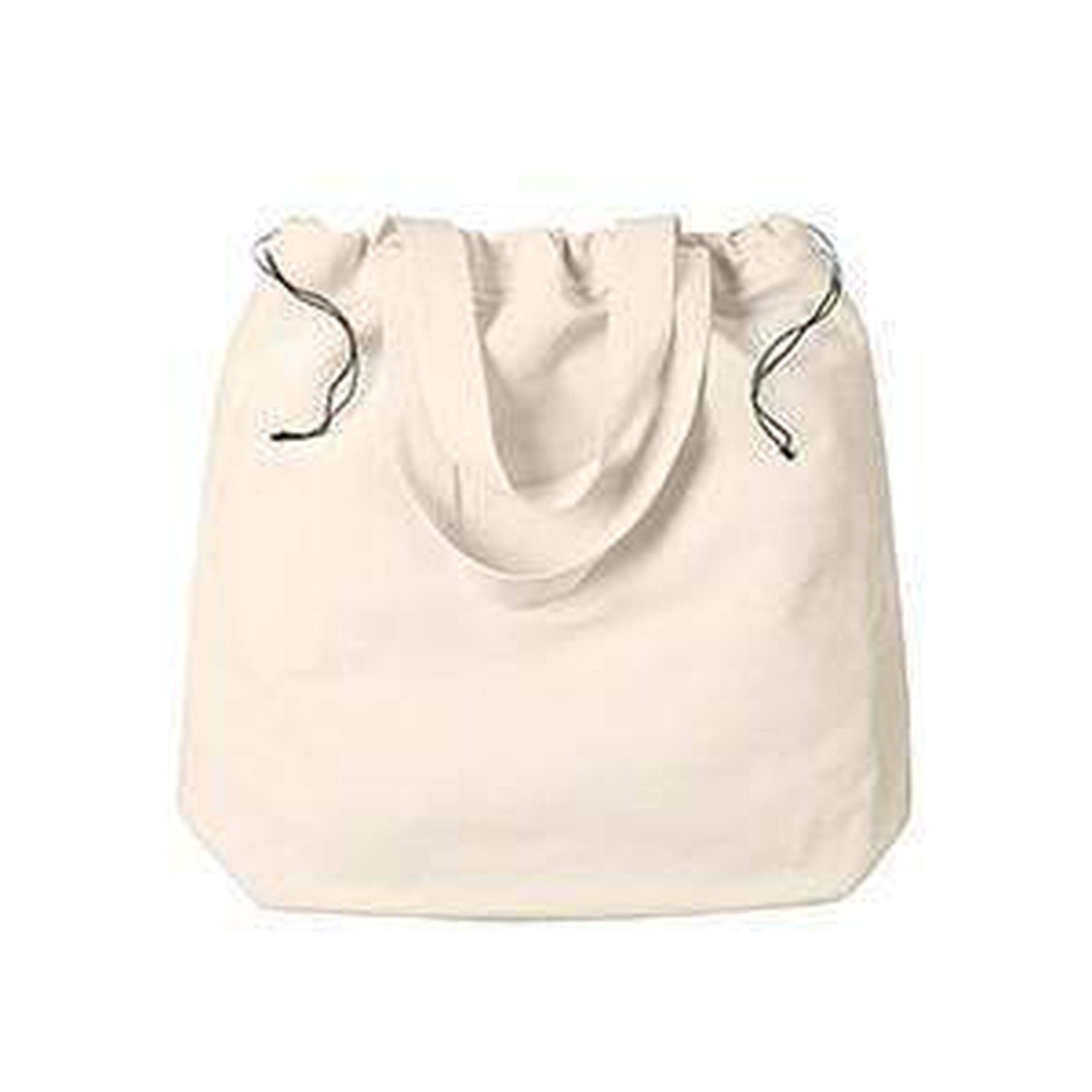 Bagedge New Self Fabric Handles Drawstring Closure Tote Bag BE087