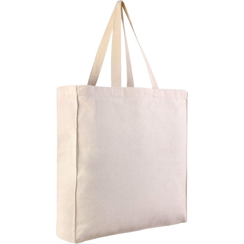 Sturdy Canvas Shopping Tote Bags Wholesale with Gussets Clearance