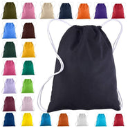 Wholesale Cotton Canvas Drawstring Bags Backpacks  | Medium | BPK18 Drawstring Bags