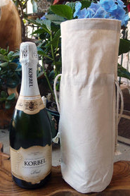Canvas Wine Bag with Drawstring Closure - Wedding Gift Bag - WB065 Drawstring Bags