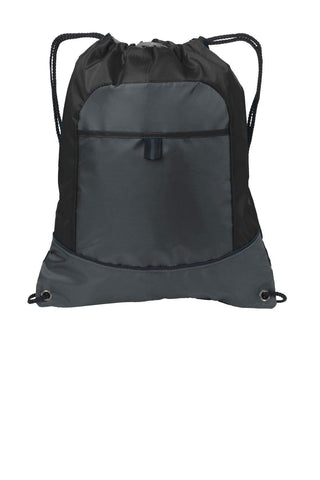 Port Authority® Pocket Cinch Pack. BG611 Drawstring Bags