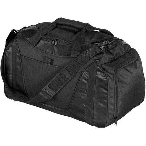 Polyester Two-Tone Duffel Bag with Mesh Pocket - BG1040 Duffle Bagz