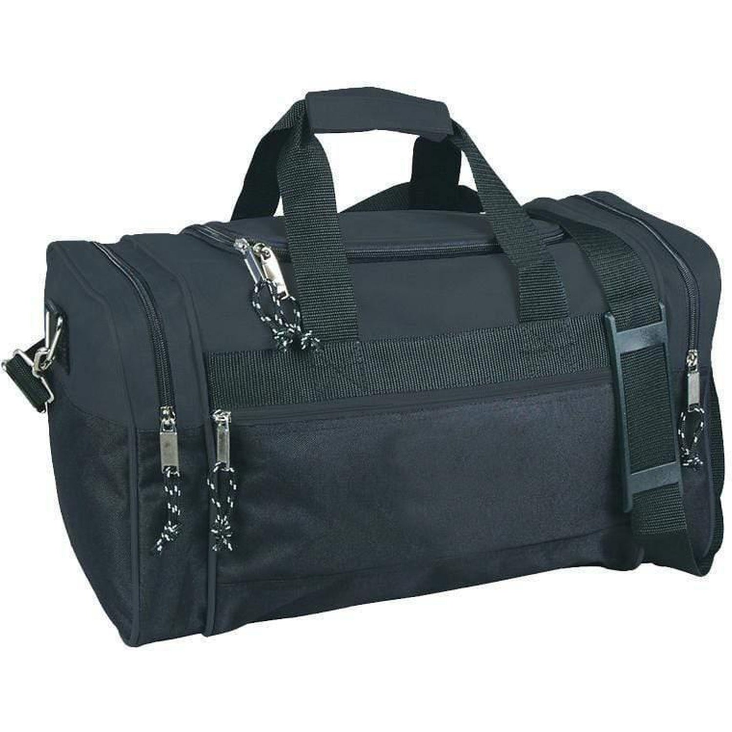 Wholesale DUFFLE BAGs - Zippered Polyester Gym Travel DUFFLE BAGs - DB1171