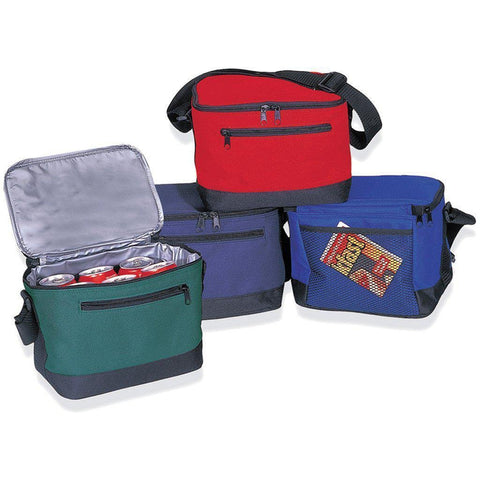Polyester 6-Can Cooler Lunch Bags - Q121800 Lunch Bags / Coolers