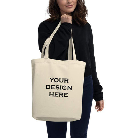 Custom Tote Bags, Personalized Organic Tote Bag with Your Own Design (Natural Color Tote) Tote Bags