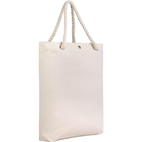 Canvas Tote Bags - Rope Handles and Magnetic Closure Tote Bags