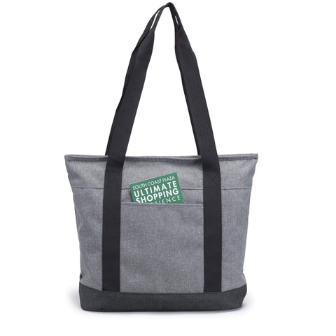 Tote Bag with Zipper - Heathered Polyester Zipper Tote - HP1109-BagzDepot