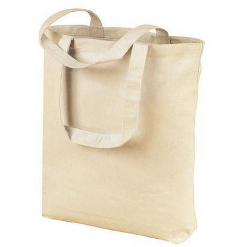 Certified Organic Cotton Tote Bags w/ Bottom Gusset - Organic Bags in Bulk - OR110 Tote Bags