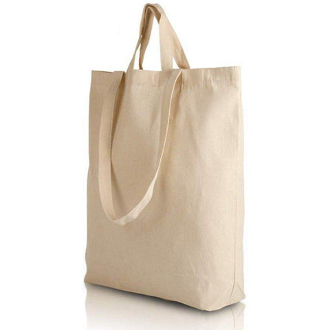 Canvas Tote Bags with Short and Long Handles / Bottom Gusset - BTG220 Tote Bags