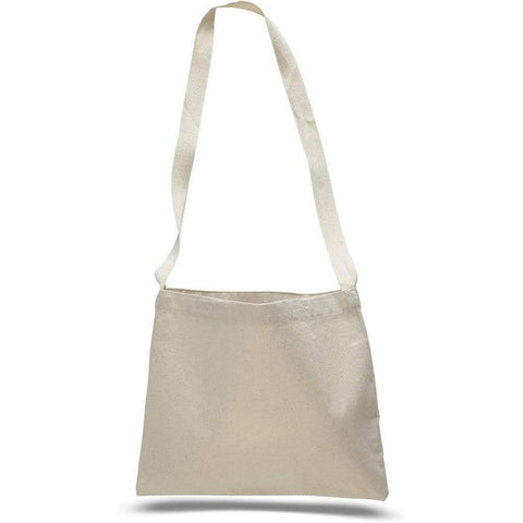 Small Canvas Messenger Tote Bag with Long Shoulder Straps - MB210 Tote Bags