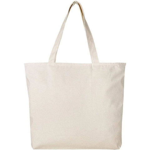 Large Canvas Tote Bags with Zipper Closure - BTG261 Tote Bags