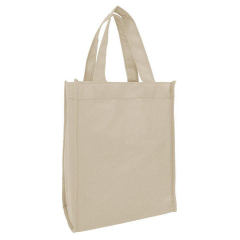 Small Tote Bags in Bulk - Non-Woven Gusseted Gift Bags Wholesale - GN18 Tote Bags