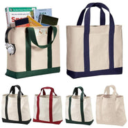 Heavy Cotton Canvas Large Size Sturdy Two-Tone Tote Bags - TG400 Tote Bags
