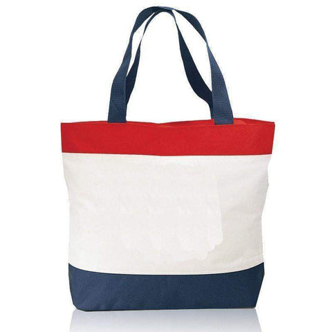 Durable Polyester Beach Tote Bags with Zipper Top - Q2100 Tote Bags