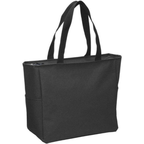 Polyester Canvas Tote Bags with Zipper - Zip Top Tote Bags - BG410 Tote Bags