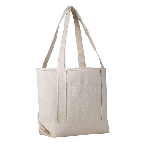 Heavy Duty Canvas Tote Bags - 12 Pack - Medium Boat Canvas Bags Tote Bags