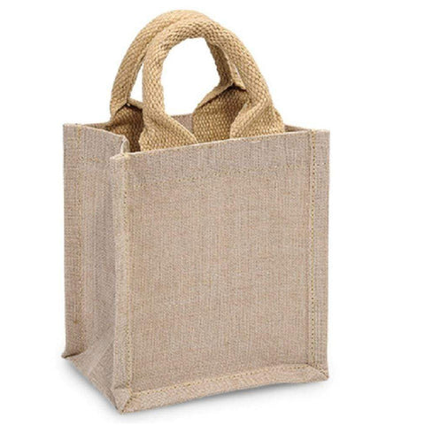 Burlap Gift Tote Bag Cute Party Favor Bag - B906 Tote Bags