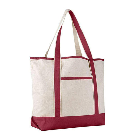 Extra Large Heavy Canvas Boat Tote Bags - Set of 12 Tote Bags